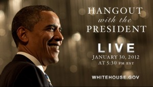 Google Hangout mit US-Präsident Barack Obama
