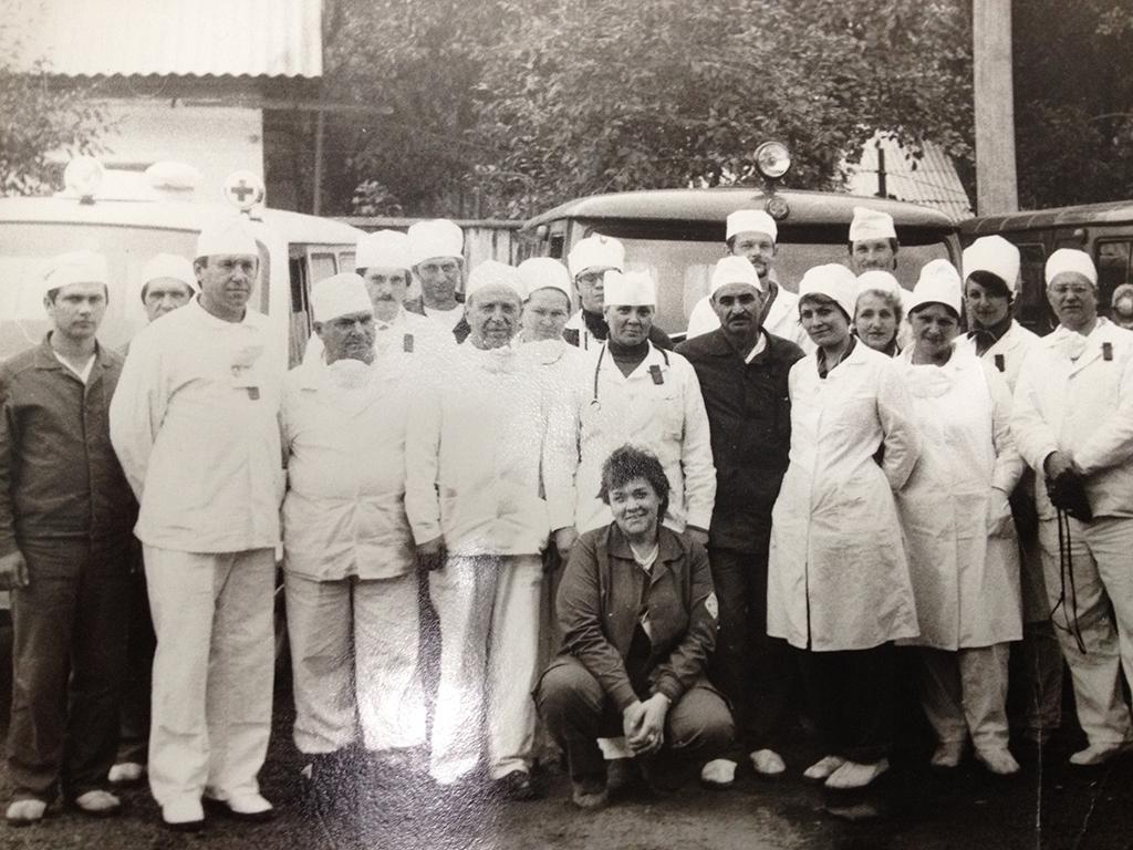 Die Ärzte-Brigade mit Natalya Tereshchenko (2.v.re) Bild: © privat