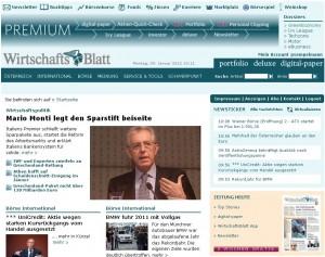 wirtschaftsblatt.at am 9.1.2012